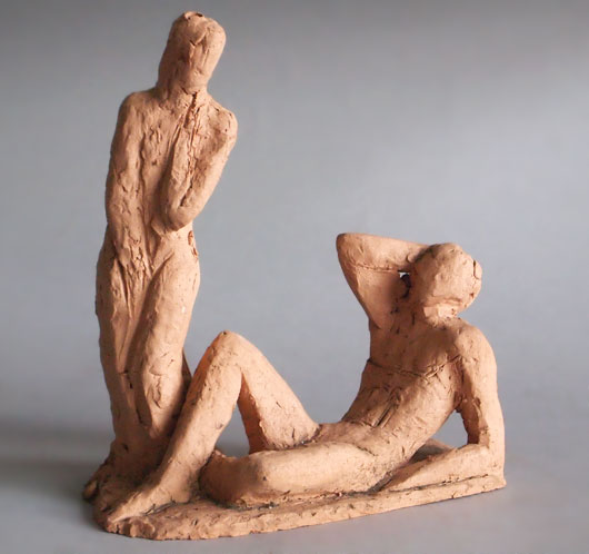 Clay figure study for 'The Vision', Mary Spencer Watson, 1990