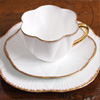 Shelley 'Dainty' bone china cup, saucer and plate trio