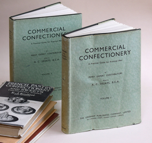 Commercial Confectionery (1937) and 3 related vintage cookbooks