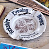 1920s enamel ashtray: Yorkshire Evening News