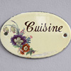 Mid-1900s oval enamel door sign: Cuisine