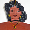West African folk art dress hanger: Tina