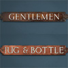 Enamel inlay pub sign: Gentlemen/Jug & Bottle